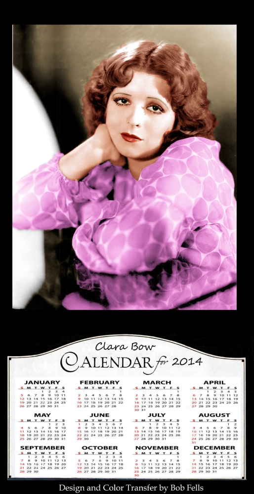 Your Official 2014 Old Hollywood in Color Calendar Collection! (5/6)