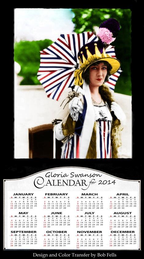 Gloria Swanson Calendar