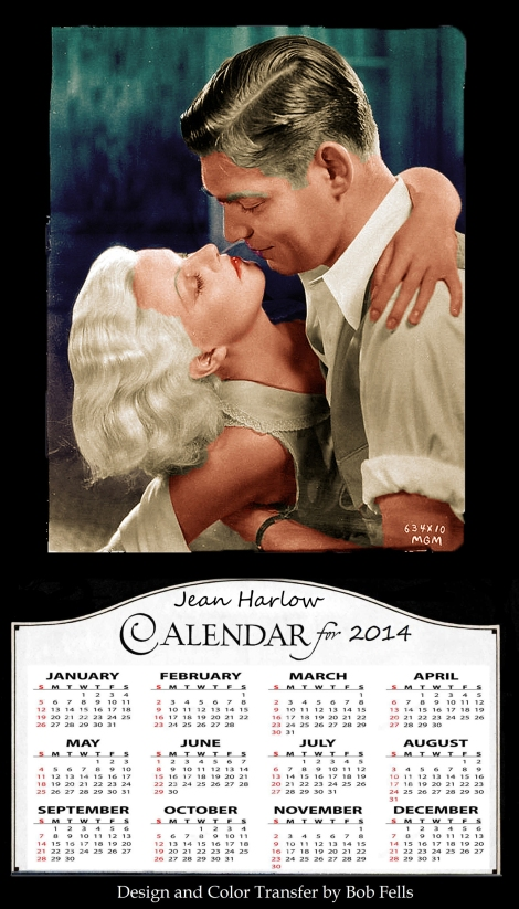 Jean Harlow Calendar