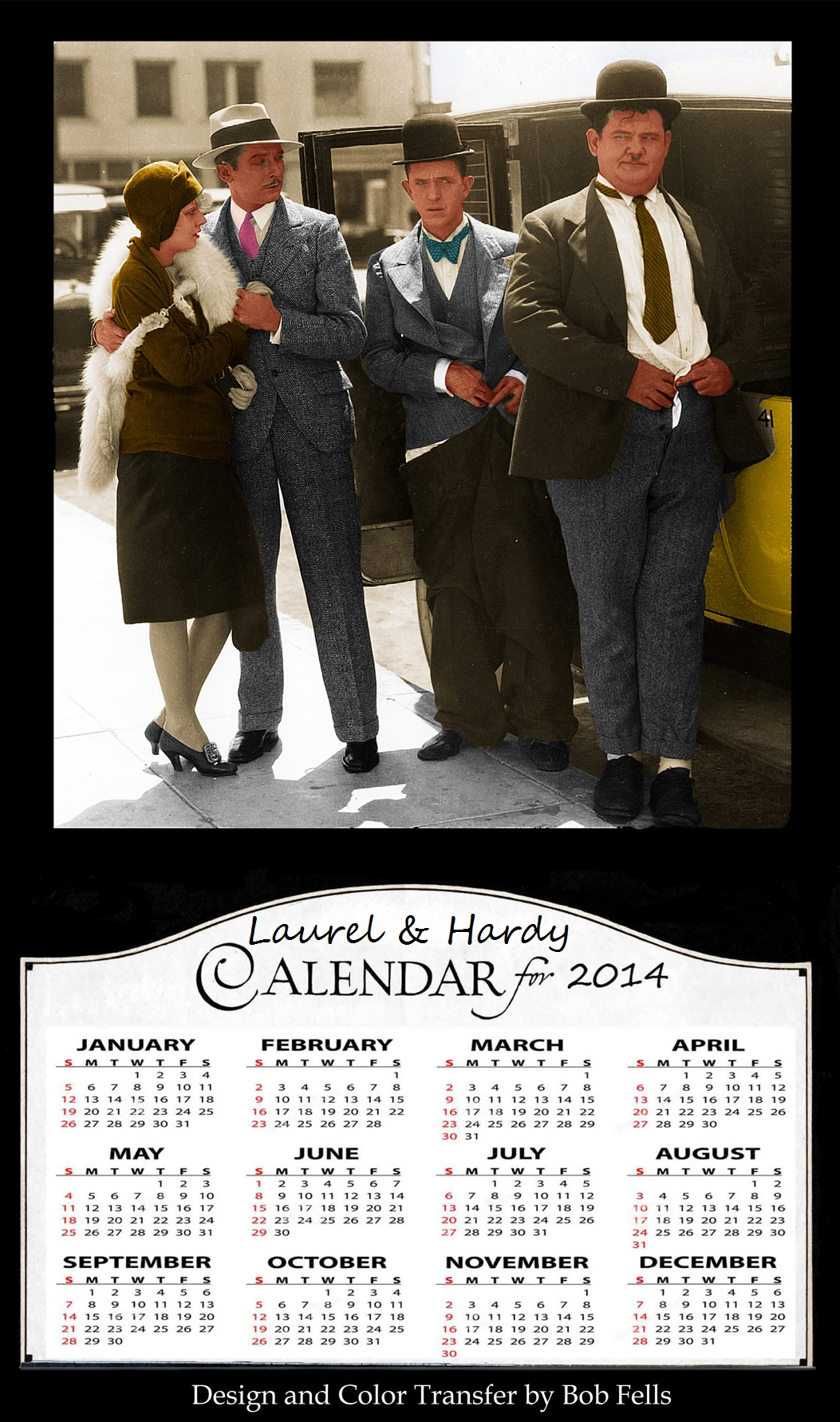 Laurel and Hardy Calendar Final