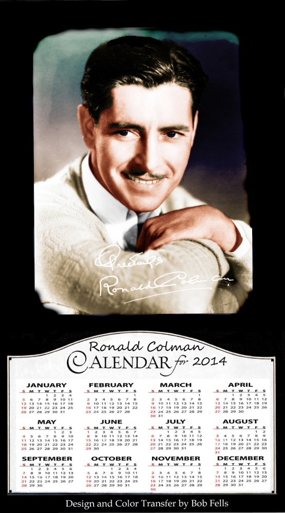 Your Official 2014 Old Hollywood in Color Calendar Collection! (3/6)