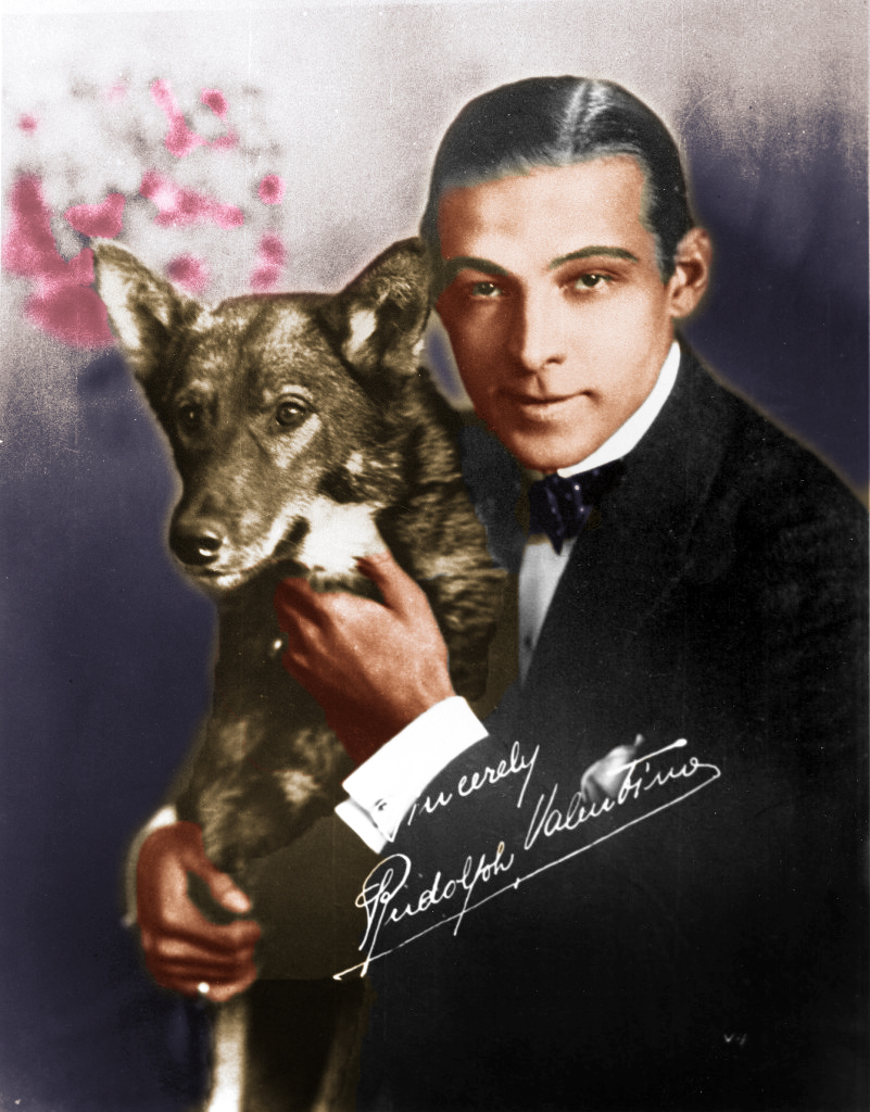 Rudolph Valentino and his Dog-Final
