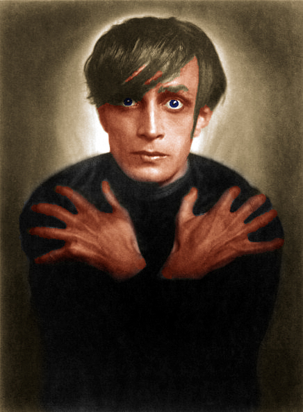 "Conrad Veidt as ""Cesare"" in the film ""The Cabinet of Dr. Caligari"". Photograph. 1921"