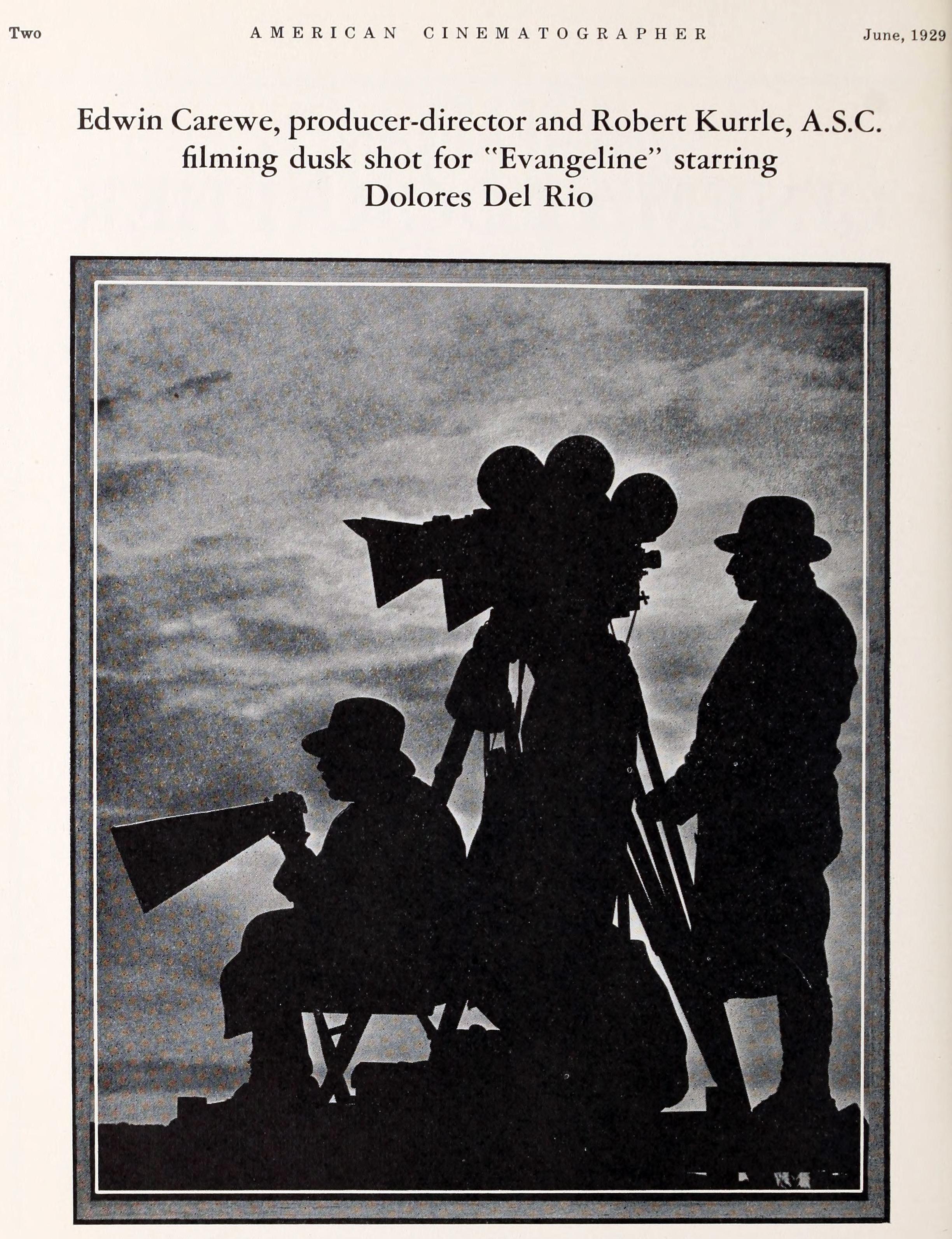 americancinematographer 1929 Evangeline