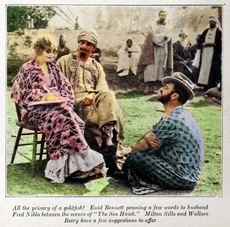 Enid bennett Milton Sills Wallace Beery THE SEA HAWK 1924 Photoplay Mag_Color Final
